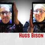hugs bison